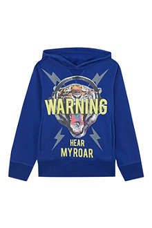 DIESEL Warning tiger hooded sweatshirt 4-16 years