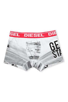 DIESEL Graphic-print stretch-cotton boxer shorts 4-16 years