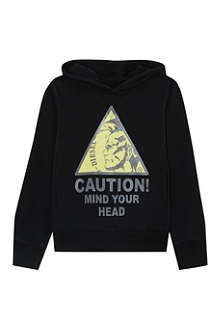 DIESEL Caution hooded sweatshirt 4-16 years