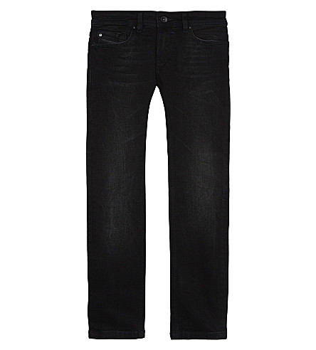 DIESEL Sleenker cotton jeans 6-16 years (Black+denim
