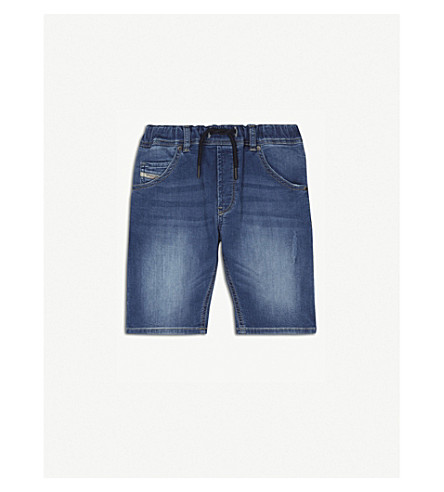 DIESEL Krooley stretch-cotton jogger shorts 4-16 years (Denim