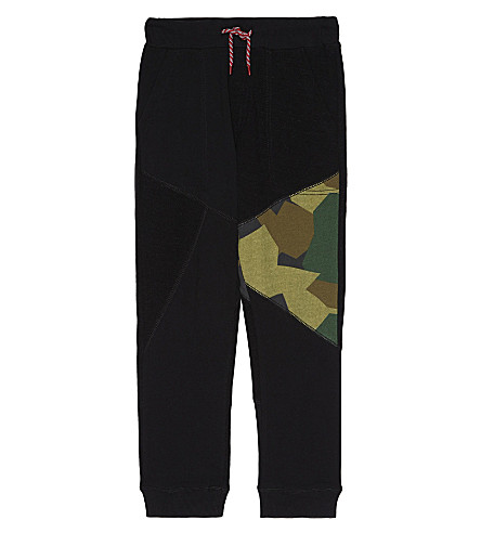 DIESEL Camouflage detail cotton jogging bottoms 6-16 years (Black
