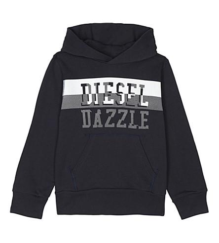 DIESEL Dazzle cotton hoody 6-16 years (Navy