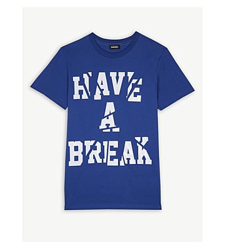 DIESEL 'Have A Break' slogan cotton T-shirt (Blue