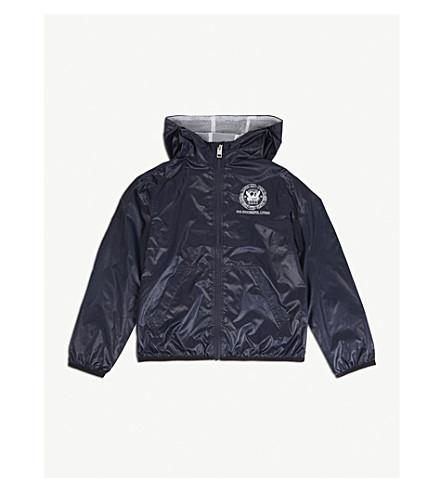 DIESEL Logo print hooded windbreaker jacket 4-14 years (Navy
