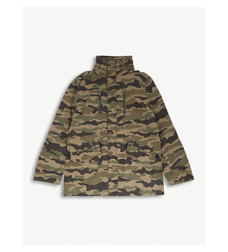 DIESEL Camouflage cotton jacket 4-16 years (Camo