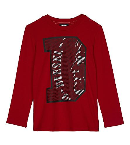 DIESEL Printed cotton long-sleeved top 4-6 years (Red