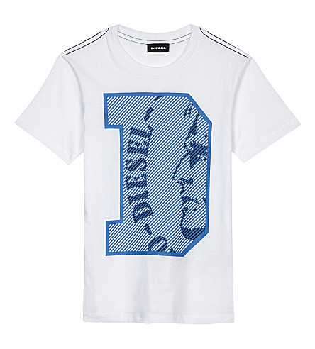 DIESEL Logo cotton t-shirt 4-6 years (White