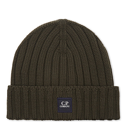 CP COMPANY Ribbed knitted beanie (Dark millitary green