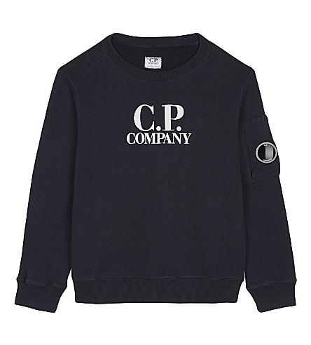 CP COMPANY Logo print sweatshirt 4-14 years (Navy