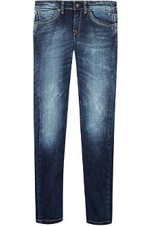 PEPE JEANS LONDON Cashed stone wash jeans 8-16 years