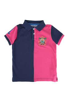 HACKETT Colour-block polo shirt 2-10 years