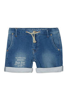 PEPE JEANS LONDON Howie jersey-denim shorts 10-16 years