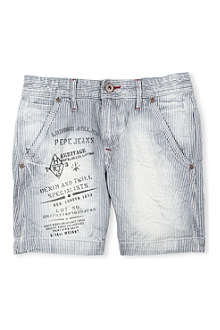 PEPE JEANS LONDON Miron bleach shorts 10-16 years