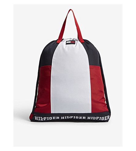 TOMMY HILFIGER Colourblock drawstring bag (Navy