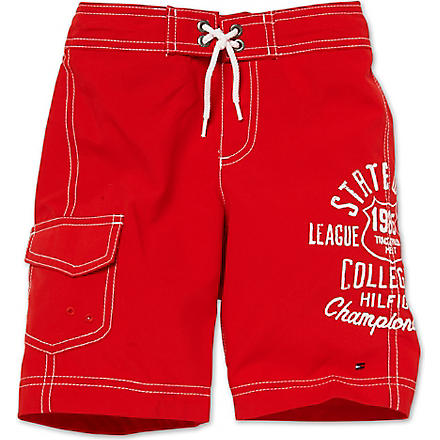 TOMMY HILFIGER Graphic swimming shorts 4–7 years (Red