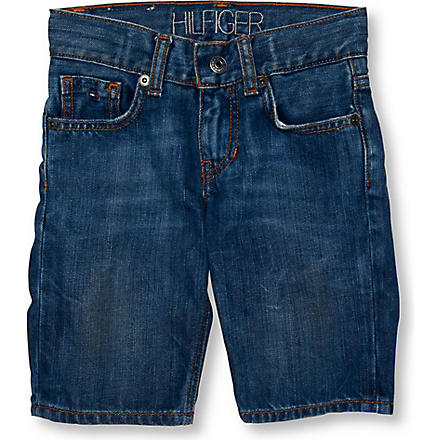 TOMMY HILFIGER Dark wash denim shorts 4–7 years (Blue