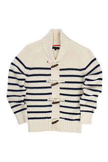 TOMMY HILFIGER Toggle striped cardigan 4-7 years