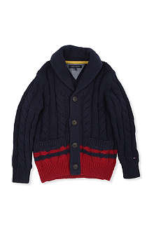 TOMMY HILFIGER Cable-knit shawl cardigan