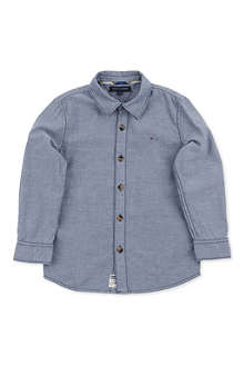 TOMMY HILFIGER Elbow patch-detail denim shirt 4-7 years