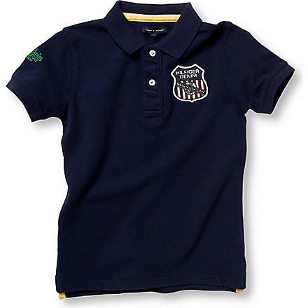 TOMMY HILFIGER Short sleeve badge polo shirt 4 – 16 years (Navy
