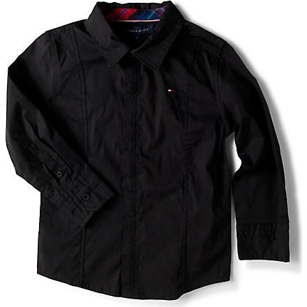 TOMMY HILFIGER Stretch poplin shirt 4-16 years (Black