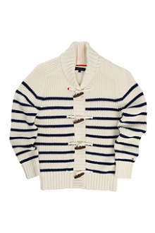 TOMMY HILFIGER Toggle striped cardigan 8-16 years
