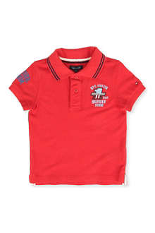 TOMMY HILFIGER Badge polo shirt 8-16 years