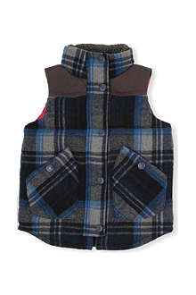 TOMMY HILFIGER Checked gilet 8-16 years