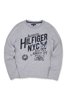 TOMMY HILFIGER Logo-print long-sleeved top 3-16 years