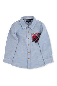 TOMMY HILFIGER Chambrey pocket shirt 3-16 years
