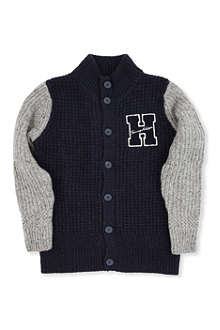 TOMMY HILFIGER Contrast sleeve knitted cardigan 8-16 years