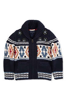 TOMMY HILFIGER Fair Isle zip-up cardigan 8-16 years