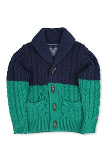 TOMMY HILFIGER Shawl neck toggle knitted cardigan 3-7 years