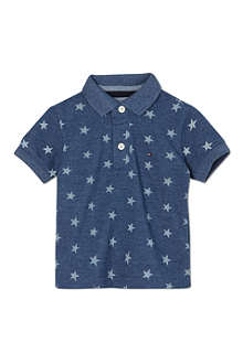 TOMMY HILFIGER Star print polo shirt 2-16 years
