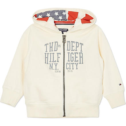 TOMMY HILFIGER American flag hoody 2-16 years (Cream