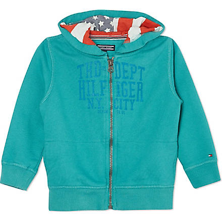 TOMMY HILFIGER American flag hoody 2-16 years (Green