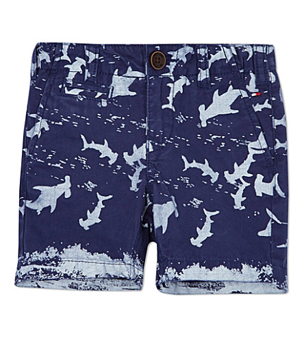 TOMMY HILFIGER Rock shark chino shorts 3 month-16 years (Blue
