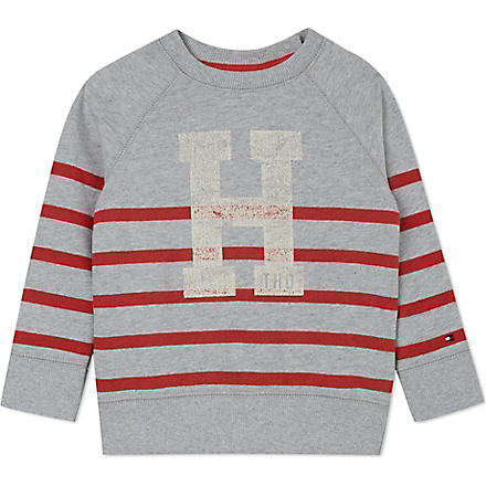 TOMMY HILFIGER Hanford striped jumper 3 months - 16 years (Grey