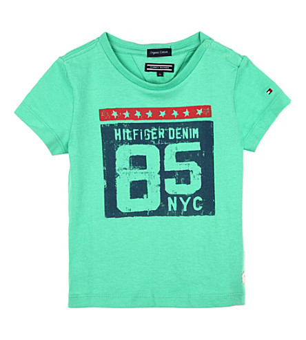 TOMMY HILFIGER Printed organic cotton t-shirt (Green