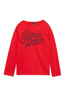TOMMY HILFIGER Long-sleeved logo t-shirt 4-16 years