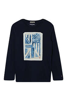 TOMMY HILFIGER Flag long-sleeved t-shirt 4-16 years