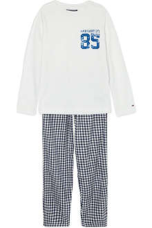 TOMMY HILFIGER Gingham check pyjama set 4-16 years