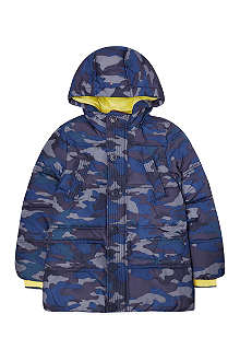 TOMMY HILFIGER Navy Camouflage Hooded Jacket