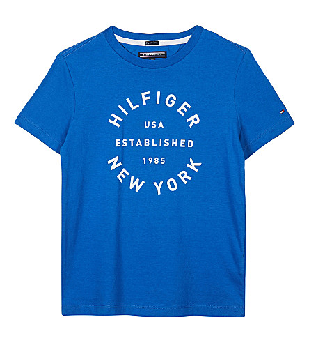 TOMMY HILFIGER Big logo cotton t-shirt 4-16 years (Blue