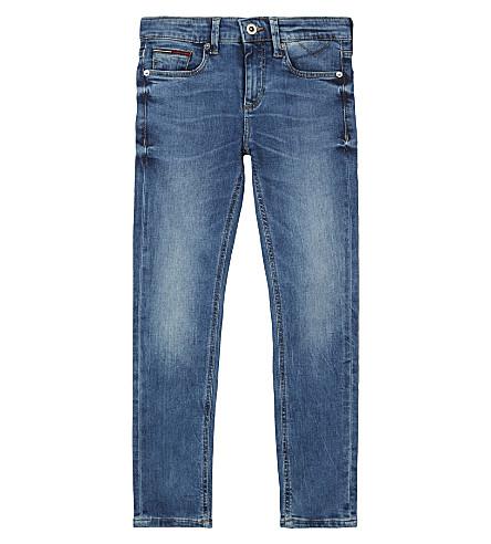 TOMMY HILFIGER Scanton slim-fit water-resistant denim jeans 4-16 years (Denim+blue