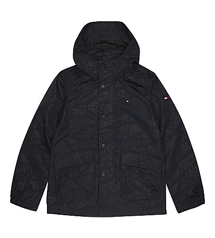 TOMMY HILFIGER Logo raincoat 4-16 years (Black