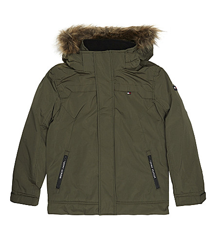 TOMMY HILFIGER Faux-fur parker coat 4-16 years (Khaki