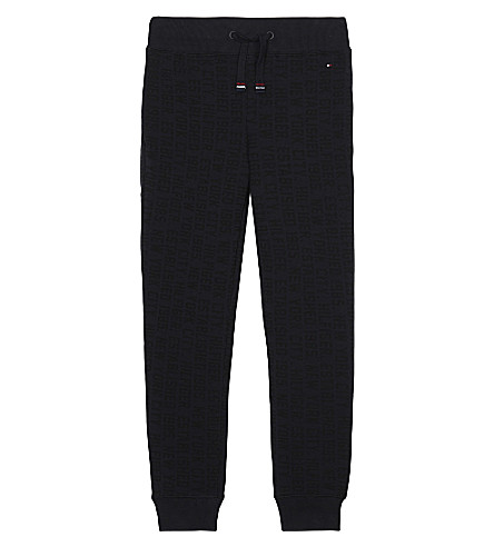 TOMMY HILFIGER Logo print tracksuit bottoms 4-16 years (Black