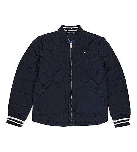 TOMMY HILFIGER Quilted padded jacket 4-16 years (Navy